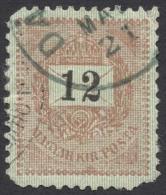 Hungary, 12 K. 1888, Sc # 28, Mi # 33B, Used - Hongrie