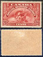 CANADA 1935 Allegory Of Progress 20c. Scarlet, VF MLH - Airmail: Special Delivery