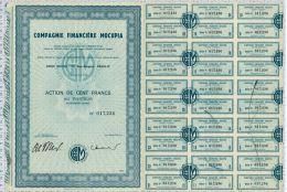 Cie Financiere MOCIPIA - Banque & Assurance