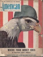 Août 1944 - Revue Mensuelle - ´´ The Américan ´´  - 160 Pages - - US Army