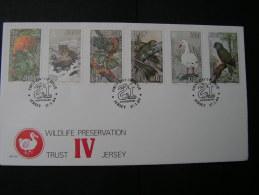 ==  Jersey FDC Wildlife 1984  Birds - Jersey