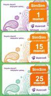Azerbaijan GSM Prepaid Cards - Azercell 1 15 25 Manat /Used, But Like UNC / - Azerbaïjan