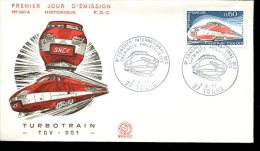 FDC 1/09/74 : Turbotrain TGV 001 - Trenes