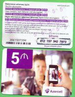Azerbaijan GSM Prepaid Card - Azercell 5 Manat /Used, But Like UNC / - Azerbaïjan