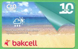 Azerbaijan GSM Prepaid Card - Bakcell-CIN 10 Manat /Used, But Like UNC / 2012 - Azerbaïjan