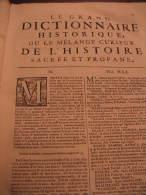 LIBRO  - DIZIONARIO - FRANCESCE - LE GRAND DICTIONNAIRE HISTORIQUE OU LE ME´LAMGE CUTIEUX DE L´HISTOIRE 1747 - Dizionari