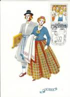 USSR Latvia Laidze 1973 Folk Clothes Costumes Costume Types Song Dance Festival Music - Letonia