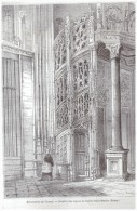 GRAVURE D Epoque    1865   Monuments De France   Escalier  Des Orgues Saint Maclou  Orgue  Eglise De Rouen - Vieux Papiers
