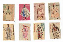 8 étiquettes De Boite D'allumettes Colonies De La SEITA - Boites D'allumettes - Etiquettes