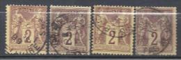 LOT DE 4 TYPE SAGE N° 85 OBL TB - 1876-1898 Sage (Type II)