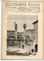 Rivista Del 1881  ROVIGO Veneto + CARRARA  Toscana + VENEZIA  Torcello  Murano Riva Degli Schiavoni  Mazorbo Etc. - Avant 1900