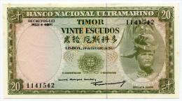 Timor 20 Escudos 1967 - Timor
