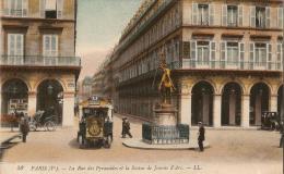 TRANSPORT - JEANNE D'ARC : Autobus De Vaugirard Dans La Rue Des Pyramides (1er Arr.), Devant La Statue De Jeanne D'Arc - Transport Urbain En Surface