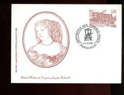 FRANCE Entier Postal Sur Carte Postale De L´Imprimerie Des Timbres-poste Madame De Sevigné 2001 - Postwaardestukken