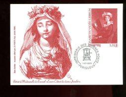 FRANCE Entier Postal Sur Carte Postale De L´Imprimerie Des Timbres-poste Mademoiselle De Bonneuil 2003 - Pseudo-interi Di Produzione Ufficiale