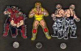 31491-serie De 3 Pin's .Catcheurs.lutteurs. - Ringen