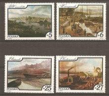 Pologne  Poland Polen Polska  ** MNH   N° YT 2733.36 Tableaux Vues Du Fleuve Vistule - 1944-.... Repubblica