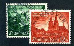 5034e  3rd Reich~ Michel #748-49 Used~( Michel €7.50 )  Offers Welcome! - Used Stamps