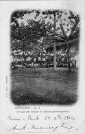 CAMBODGE PHNOM-PENH PNOMPENH GROUPE DES ENFANTS DE L'ECOLE CAMBODGIENNE EN  1902 - Cambodge