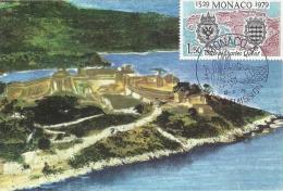 MONACO - Visite De Carles Quint 1529-1979 -Timbre Et Tampon Jour D'émission - Maximum Cards