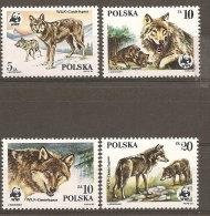 Pologne  Poland Polen Polska  ** MNH   N° YT 2787.90 WWF Protection Nature Loups Wolf Lobo - 1944-.... República