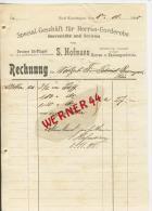 Bad Kissingen V. 1900  S. Hoffmann,Herren Garderobe  -- Siehe Foto !!   (40151) - Kleidung & Textil