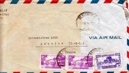LIBANON 1953, 3 Fach Frankierung Auf LP-Brief, Von Beyrouth > France - Libanon