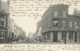 Hannut - Rue Du Tombeau - Magasin Vente De Tissus Lambinon  -1901  ( Voir Verso ) - Hannut