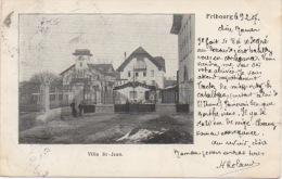 Fribourg - Villa Saint Jean - L'entrée Les Grilles  ( RARE !!! ) - FR Fribourg