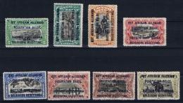 German East Africa Belgium Occupation 1916 Mi  1 - 8 MH/* - Ruanda-Urundi
