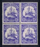 German Colonies: Ostafrika  Mi 33 B, 4 - Block, 2 X MNH/** And 2 X MH/*