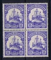 German Colonies: Ostafrika  Mi 33 B, 4 - Block, 2 X MNH/** And 2 X MH/* - Kolonie: Deutsch-Ostafrika