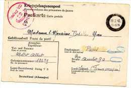 LETTRE ALLEMAGNE MILITAIRE MILITARIA CORRESPONDANCE MILITAIRE FRANCHISE MILITAIRE  KRIEGSGEFANGENENPOST  STALAG - Germany