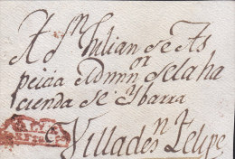 J) 1810 MEXICO, COLONIAL, VALLE DE SAN FRANCISCO SEAL IN RED, FRONT, XF - Mexico