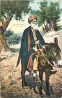 Réf : Z-13-349  :  Marchand De Bethléhem Sur Son âne - Jordanie