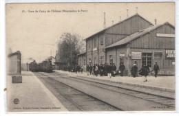 CPA MOURMELON-le-PETIT, Gare Du Camp De Châlons, Belle Animation - France