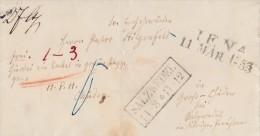 Brief Jena 11.3.1853 Gelaufen Nach Salzwedel 14.3. über Halle 12.3. - Allemagne