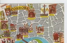 Postal 6656 : Plano Ciudad Y Monumentos De Cordoba - Cartes Postales