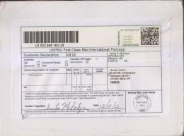 QR Code / Quick Response Code, Custom Declaration Label, Sent To India, USA - United States