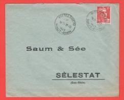 Autoplan Wittelsheim 1949 Haut Rhin - Marcophilie (Lettres)