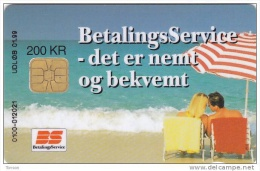 Denmark, DD 158b, 200 Kr, Betalingsservice, 2 Scans. - Danemark