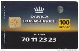 Denmark, DD 112b, 100 Kr, Danica Insurance, Only 1050 Issued, 2 Scans. - Danemark