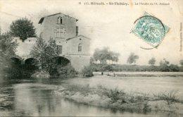 Cpa 34 St Thibéry Le Moulin De M° Arnaud Ecrite 1906 - Other Municipalities