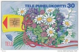 Finland, D036, Bouquet, Flowers, 2 Scans. - Finlande
