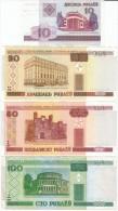 Lot Of 4 Belarus #23, 24, 25, 26, 10, 20, 50 & 100 Rublei, 2000 Issue Banknotes Currency - Belarus