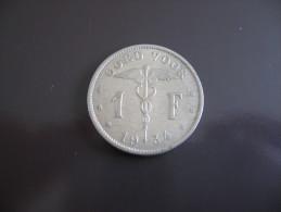1 Franc 1934 - Belgique - 07. 1 Franc