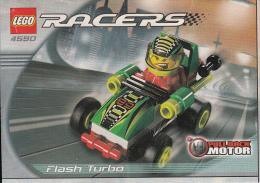 Lego 4590 Voiture de course Flash Turbo avec plan 100 % Complet voir scan