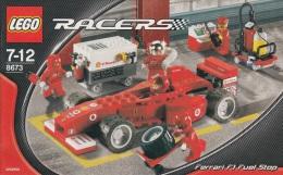Lego 8673 F1 fuel stop avec plan 100 % Complet voir scan