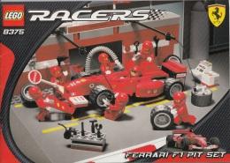 Lego 8375 F1 pit stop avec plan 100 % Complet voir scan