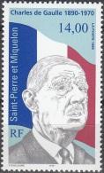 Saint-Pierre & Miquelon 1995 Yvert 622 Neuf ** Cote (2015) 5.90 Euro Général De Gaulle - Neufs